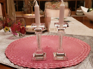 Crystal Beads Candle Holders - The Jewish Kitchen