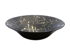 Black & Gold Marbleized Serving Bowl
