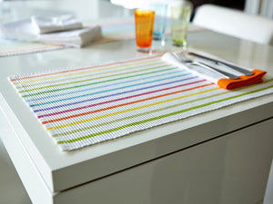 Cabana Stripe Placemat - The Jewish Kitchen