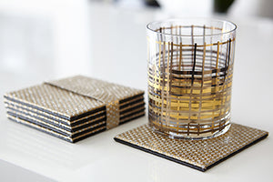 Diamond Coasters - Gold - The Jewish Kitchen