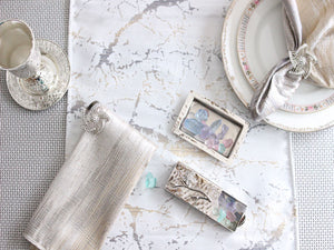 Marble Mixed Metallic Runner - The Jewish Kitchen
