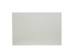 Easy Care Metallic Basketweave Placemat - Silver - The Jewish Kitchen