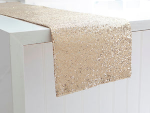 Luxe Sequin Gold Table Runner - The Jewish Kitchen