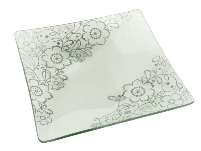 Lacy Glass Dessert/Salad Plates