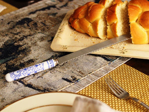 Spode Blue & White Challah/Cake Knife - The Jewish Kitchen