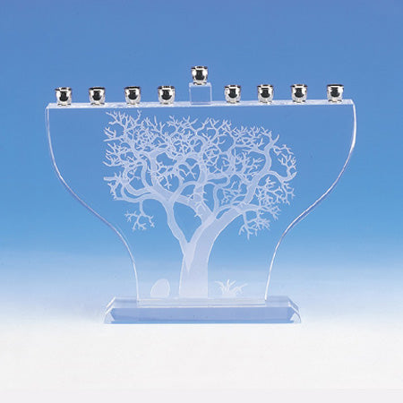 Crystal Tree of Life Menorah