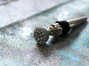 Jeweled Stainless Steel Bottle Stopper - The Jewish Kitchen