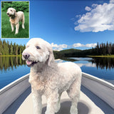 2 Pet Custom Portrait from your photo