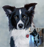 Pet Portrait from your photo, Canvas Print, Gallery Wrap, Framed Painting