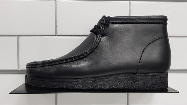 Clarks Wallabee Boot, Black Leather