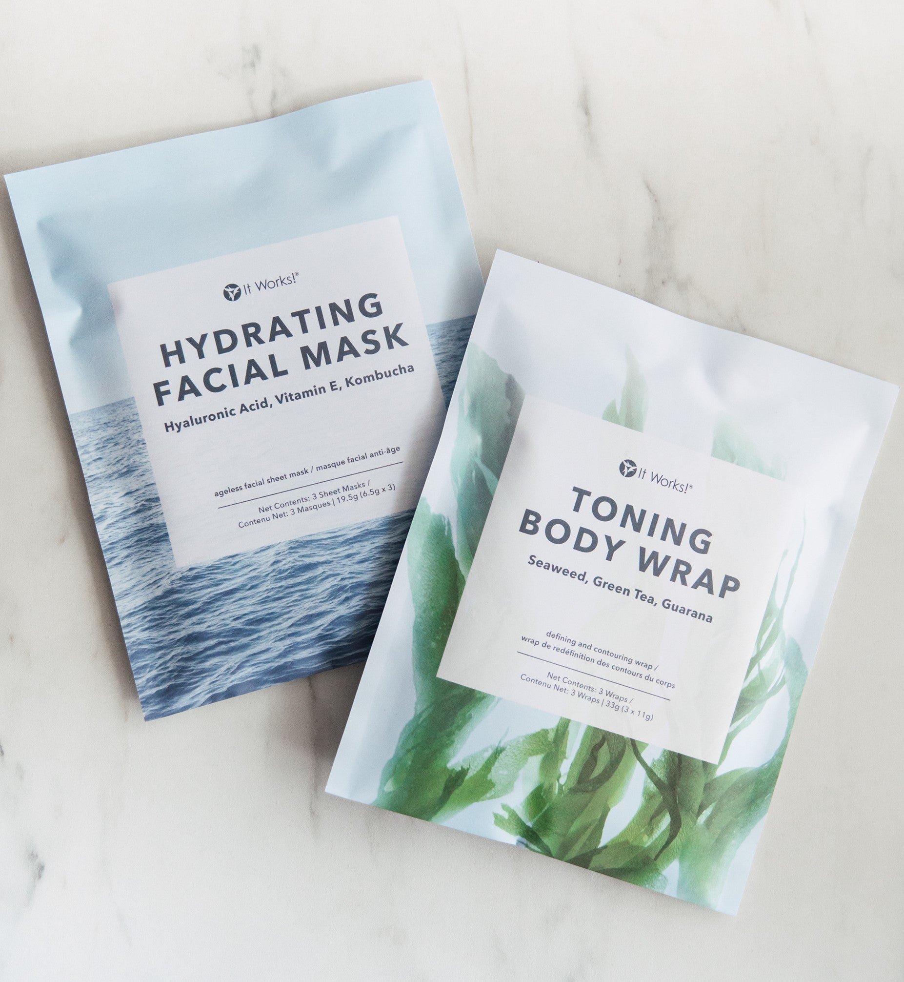 Skinny Wraps and Hydrating Facial Wraps  -- NEW Product