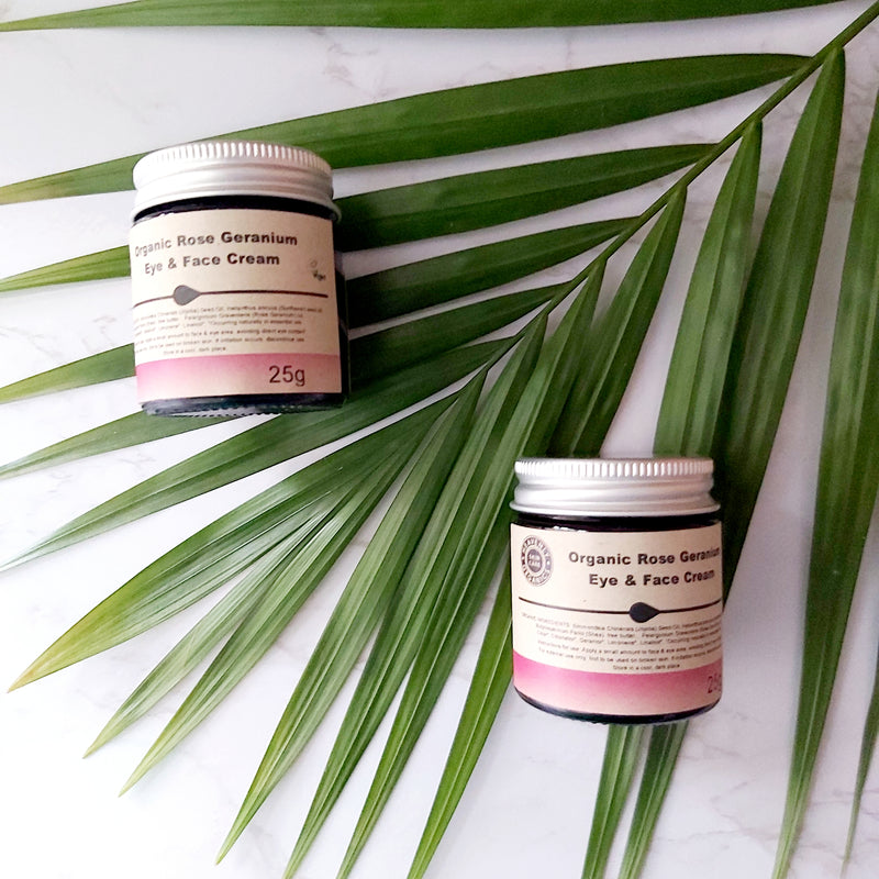 Eye & Face Cream - Organic Rose Geranium, A fine choice, The Clean Market