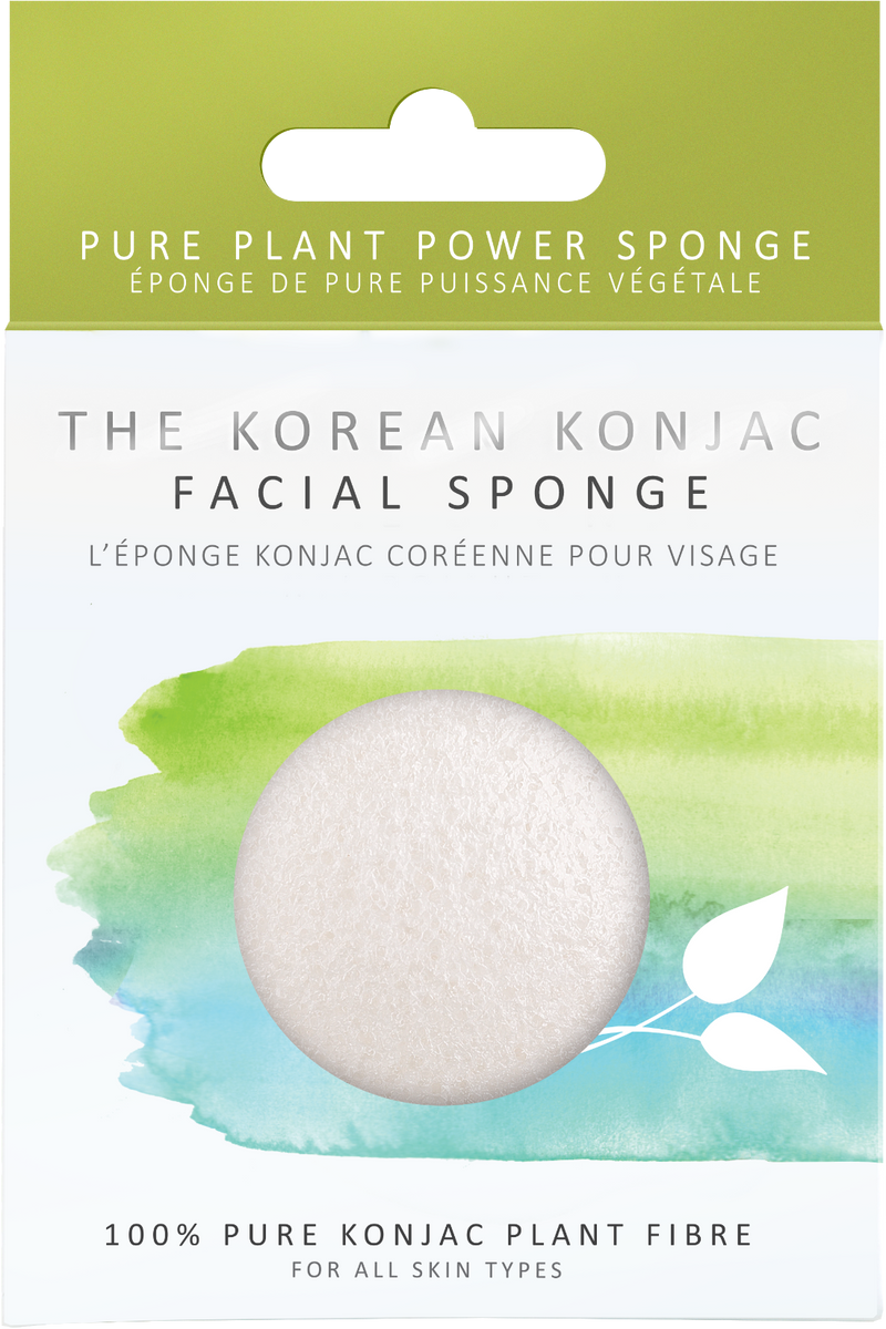Konjac Facial Sponge - Premium 100% Pure, The Konjac Sponge Co, The Clean Market