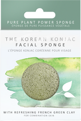 Konjac Facial Sponge - Green French Clay, Facial Sponge, The Konjac Sponge Co, - The Clean Market