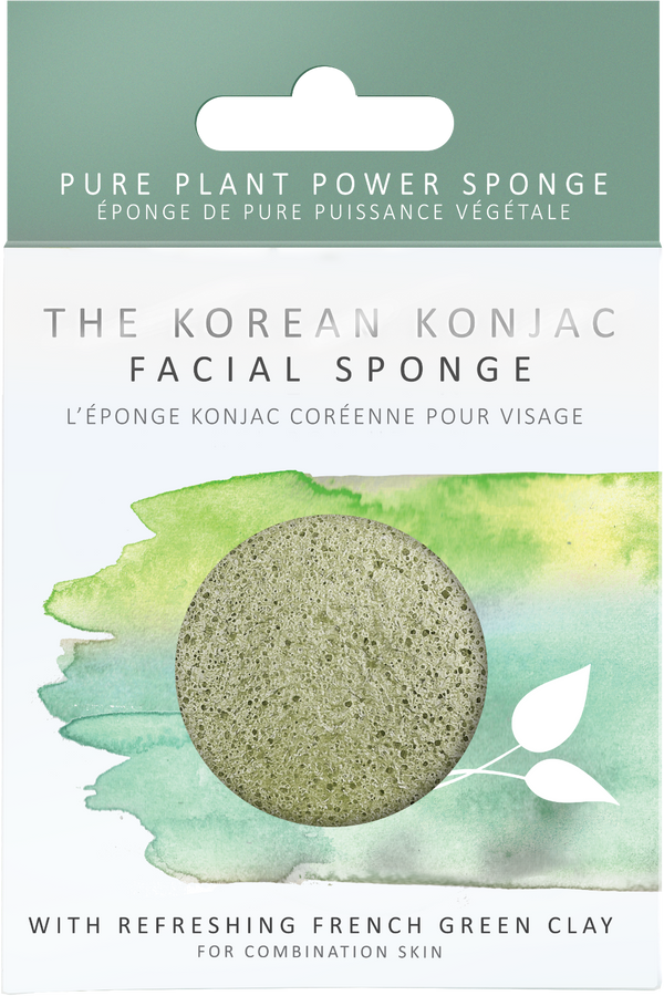 Konjac Facial Sponge - Green French Clay, Facial Sponge, A fine choice, - The Clean Market