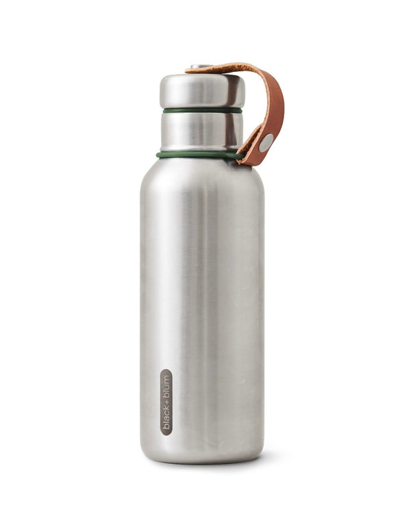 Stainless Steel Insulated Bottle - Olive - The Clean Market