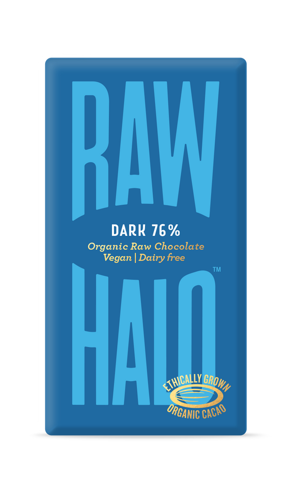 Organic Raw Chocolate - Dark 76%, Chocolate Bar, Raw Halo, - The Clean Market