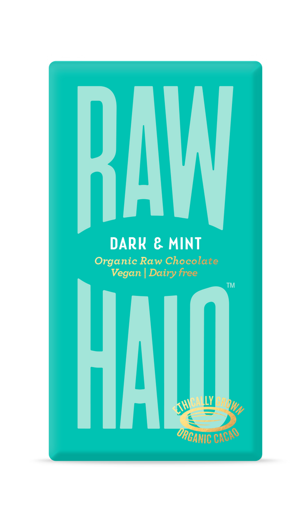 Organic Raw Chocolate - Dark & Mint, Chocolate Bar, Raw Halo, - The Clean Market