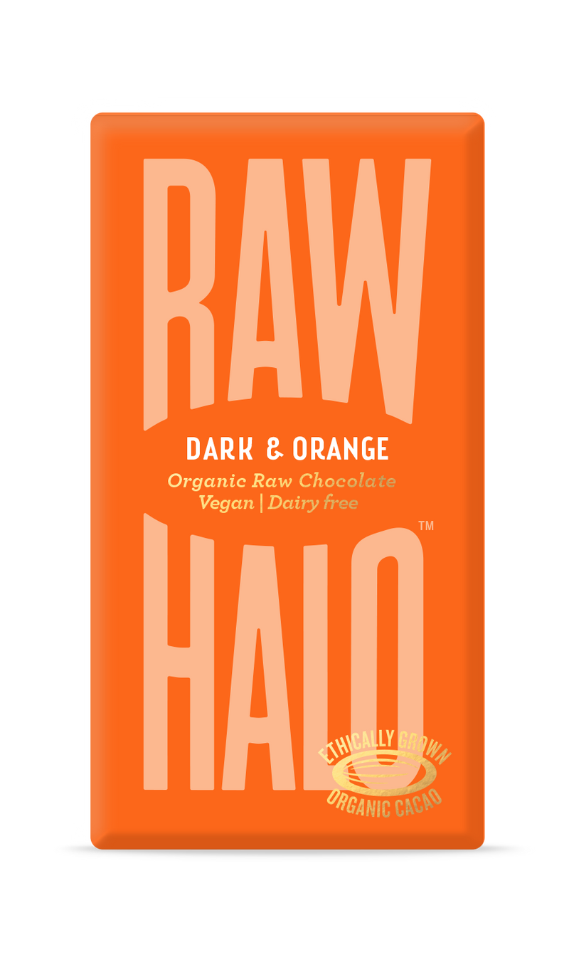 Organic Raw Chocolate - Dark & Orange, Raw Halo, The Clean Market