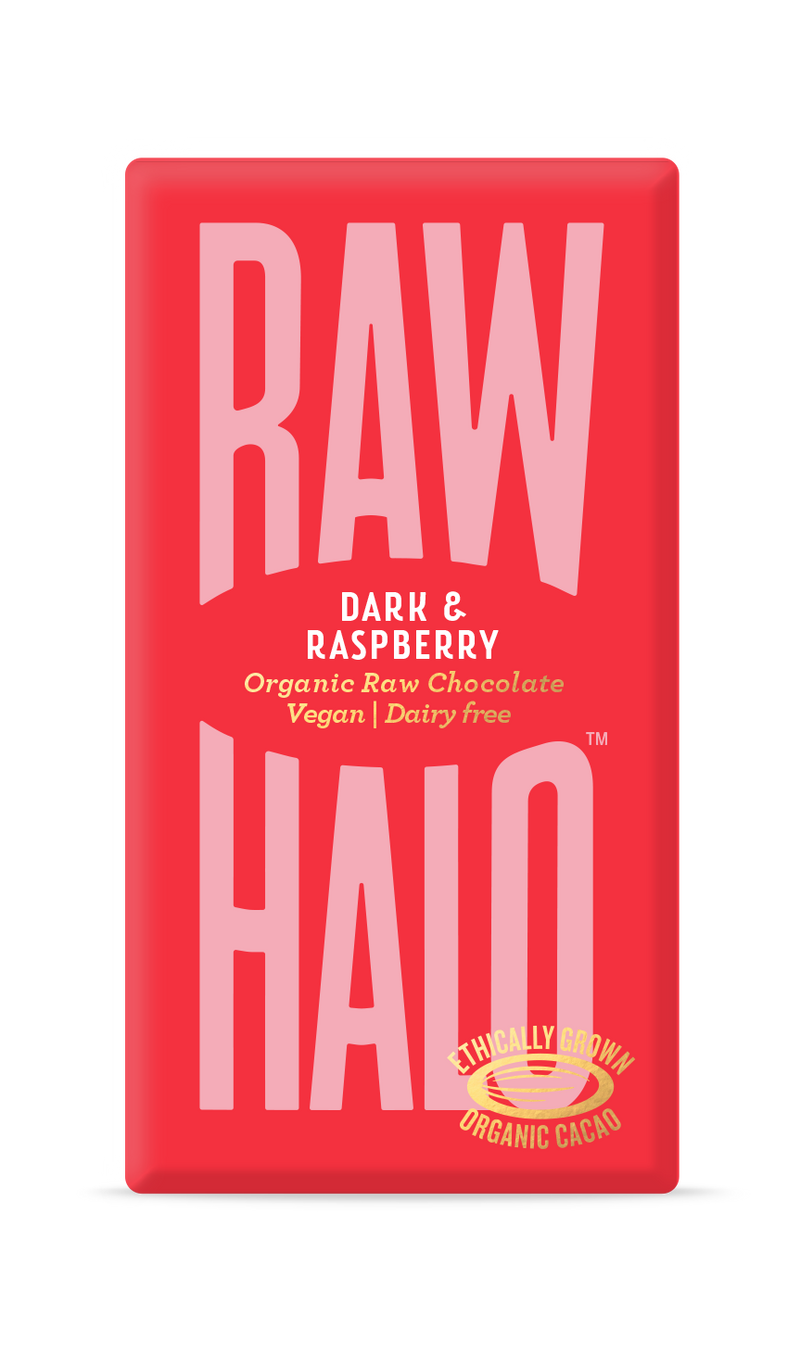 Organic Raw Chocolate - Dark & Raspberry, Raw Halo, The Clean Market