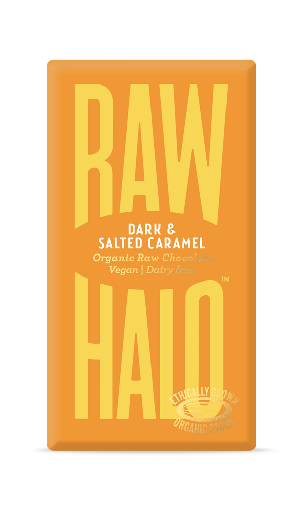 Organic Raw Chocolate - Dark & Salted Caramel, Chocolate Bar, Raw Halo, - The Clean Market