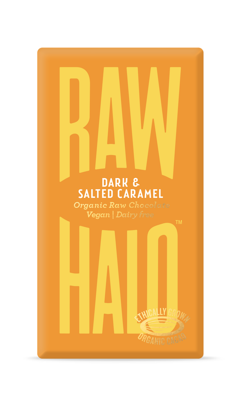 Organic Raw Chocolate - Dark & Salted Caramel, Raw Halo, The Clean Market