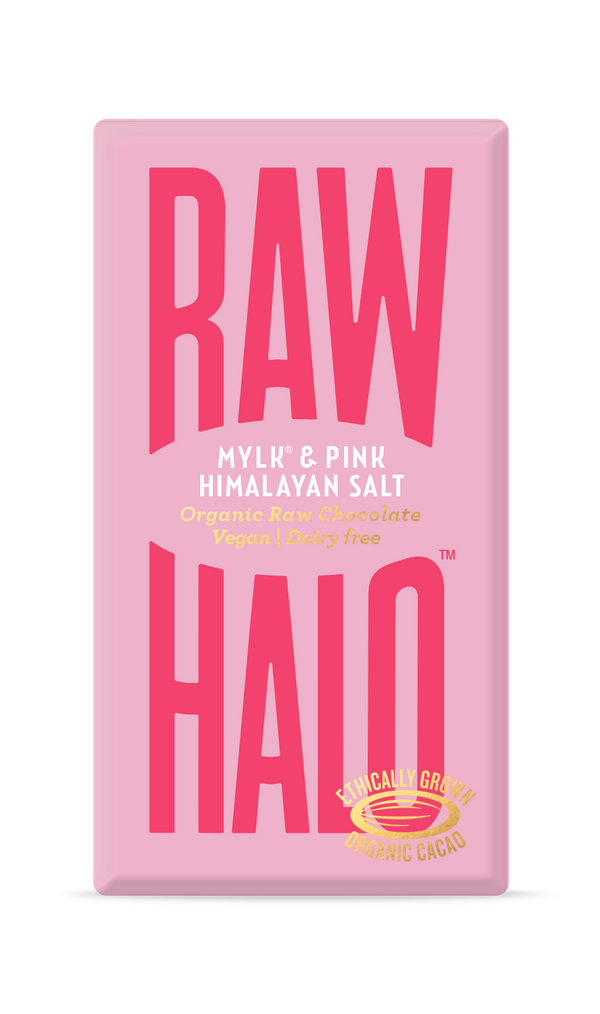 Organic Raw Chocolate - Mylk & Pink Himalayan Salt, Chocolate Bar, Raw Halo, - The Clean Market