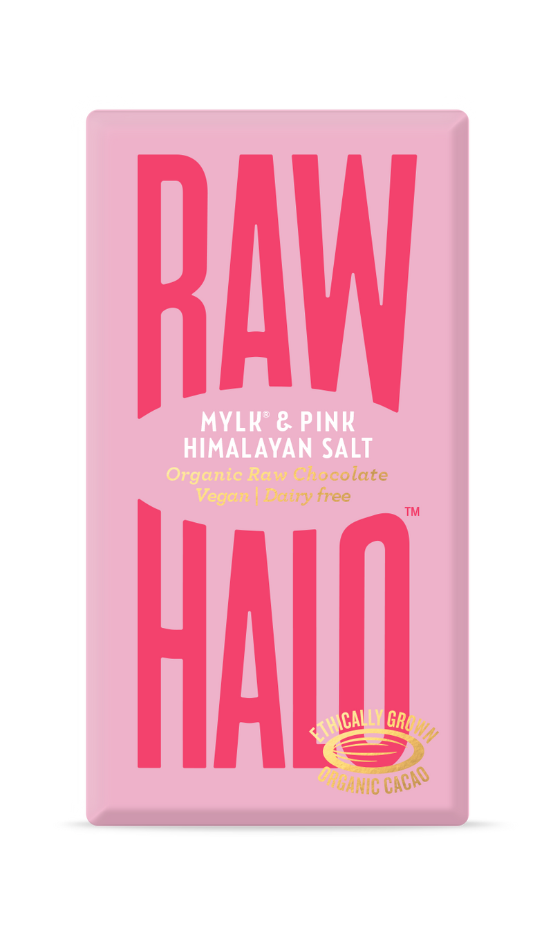 Organic Raw Chocolate - Mylk & Pink Himalayan Salt, Raw Halo, The Clean Market