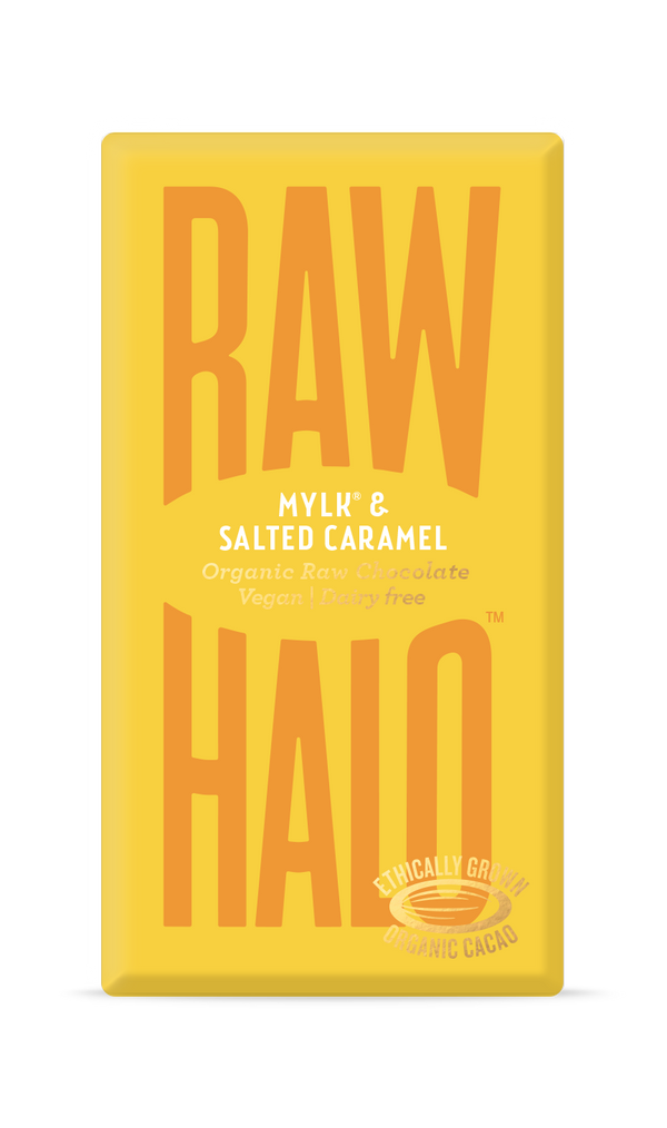 Organic Raw Chocolate - Mylk & Salted Caramel, Chocolate Bar, Raw Halo, - The Clean Market