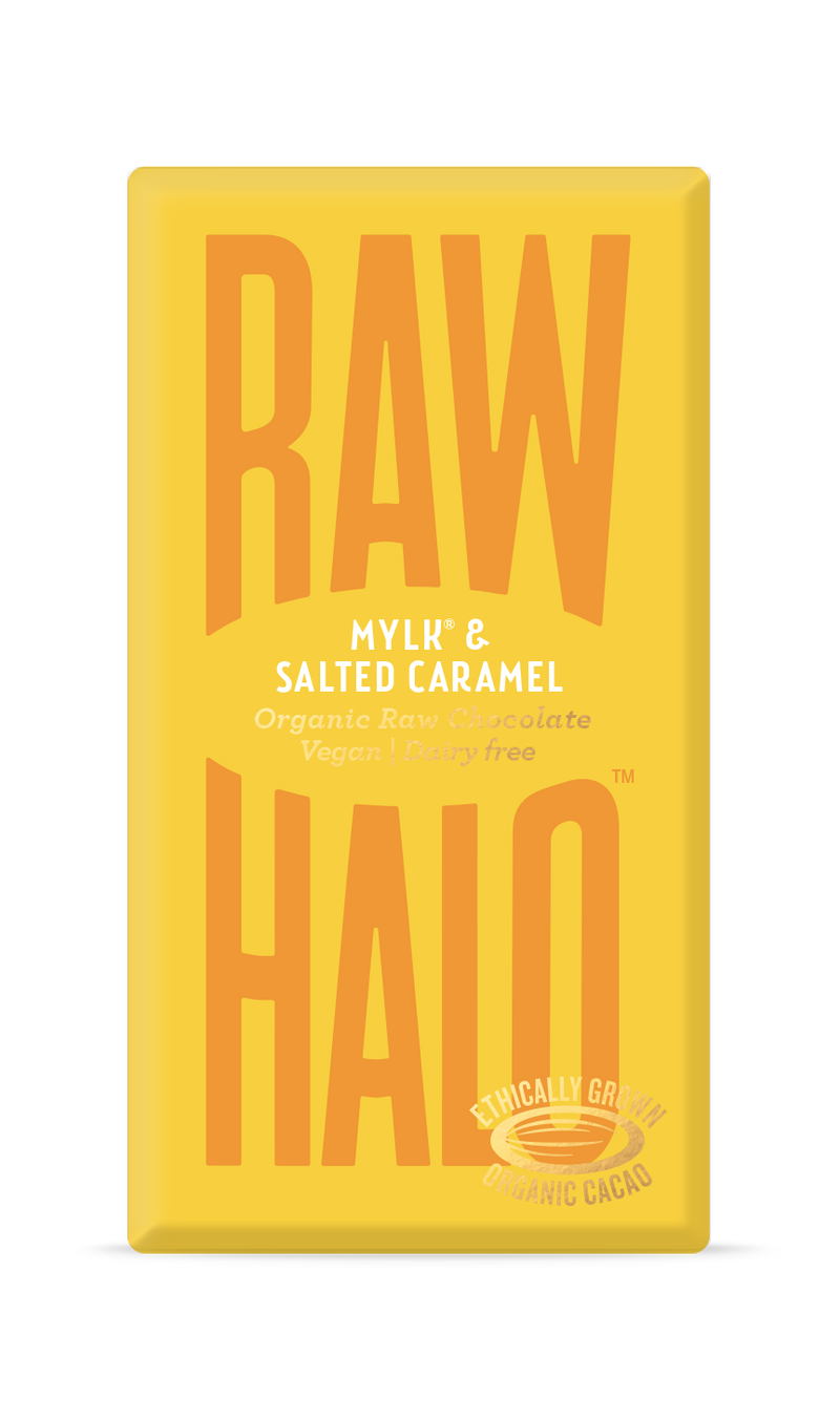 Organic Raw Chocolate - Mylk & Salted Caramel, Raw Halo, The Clean Market