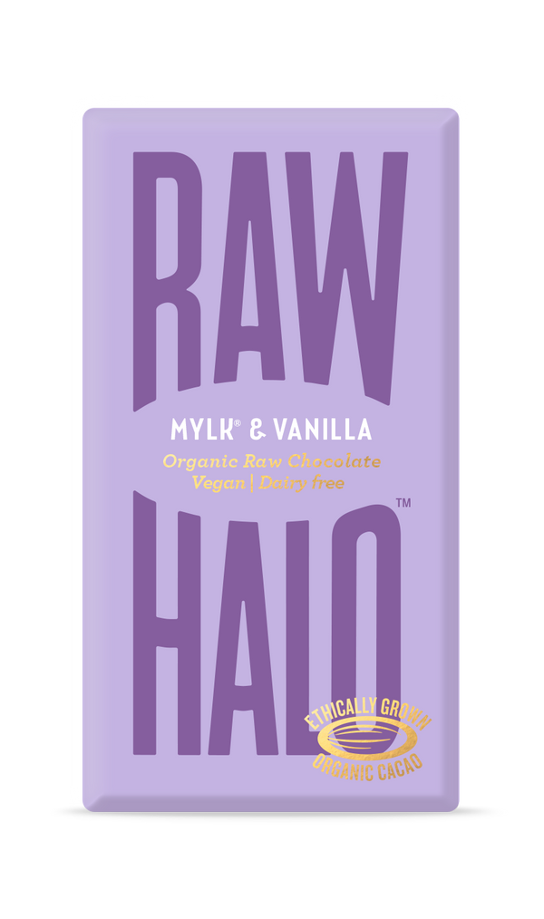Organic Raw Chocolate - Mylk & Vanilla, Chocolate Bar, Raw Halo, - The Clean Market