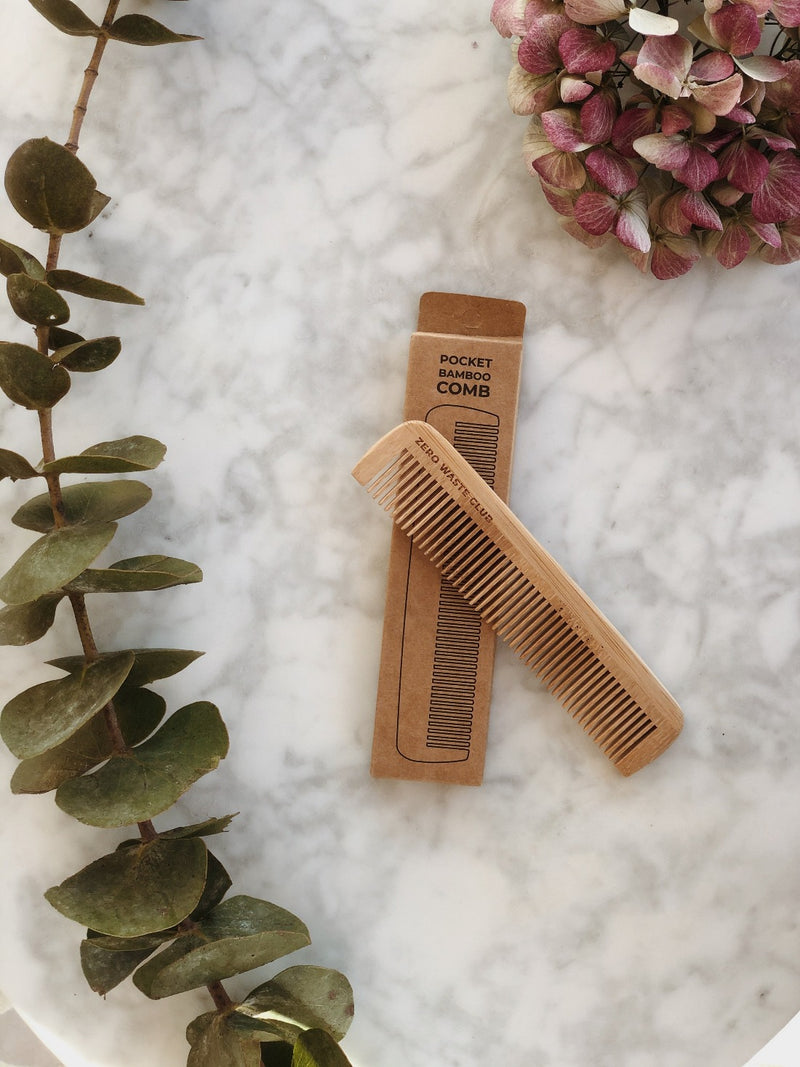 Bamboo Comb - Travel Size, Zero Waste Club, The Clean Market