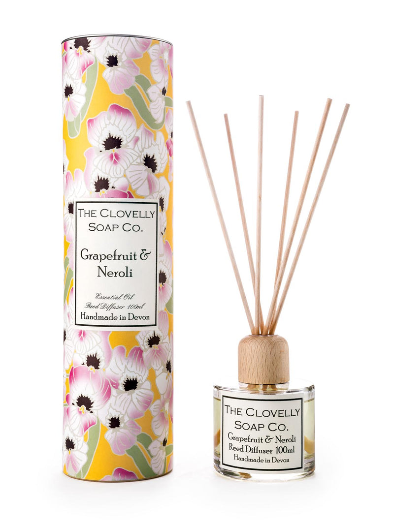 Grapefruit and neroli reed diffuser by The Clovelly Soap Company.