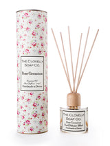 Augeo Reed Diffuser - Rose & Geranium, Home Diffuser, The Clovelly Soap Company, - The Clean Market
