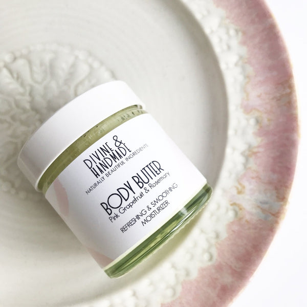 Body Butter - Pink Grapefruit & Rosemary, Body Butter, Divine & Handmade, - The Clean Market