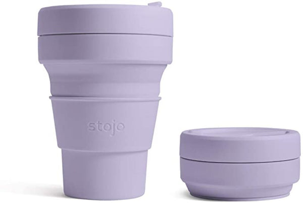 Stojo Collapsible Coffee Cup - Lilac 12oz (355ml), Auteur, The Clean Market