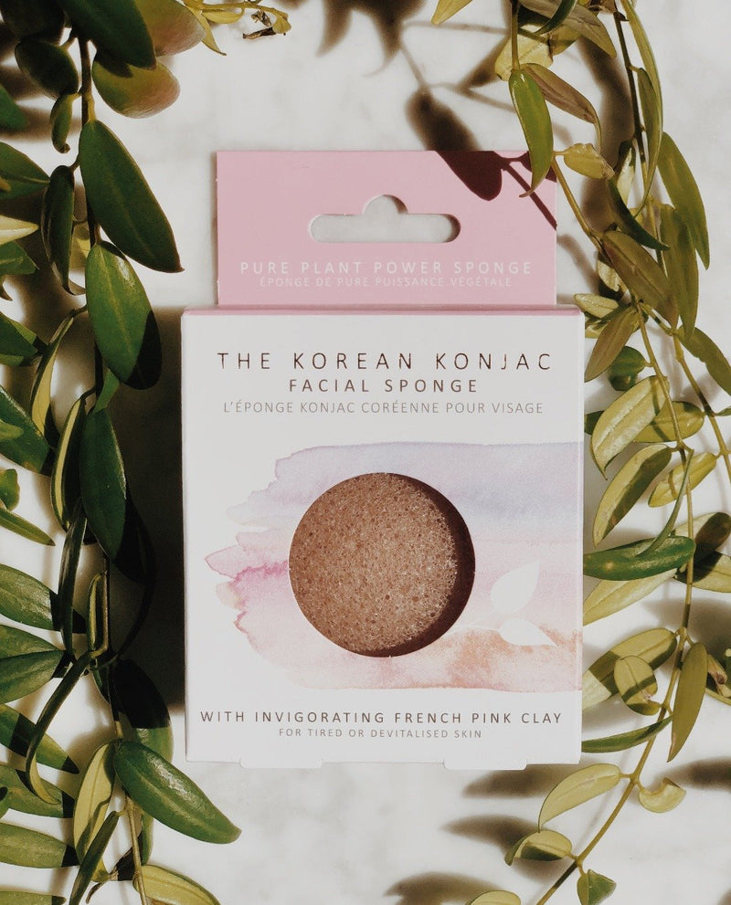 Konjac Facial Sponge - Pink French Clay, Facial Sponge, A fine choice, - The Clean Market