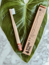 Hydrophil Bamboo Toothbrush - Kids Red, Toothbrush, A fine choice, - The Clean Market