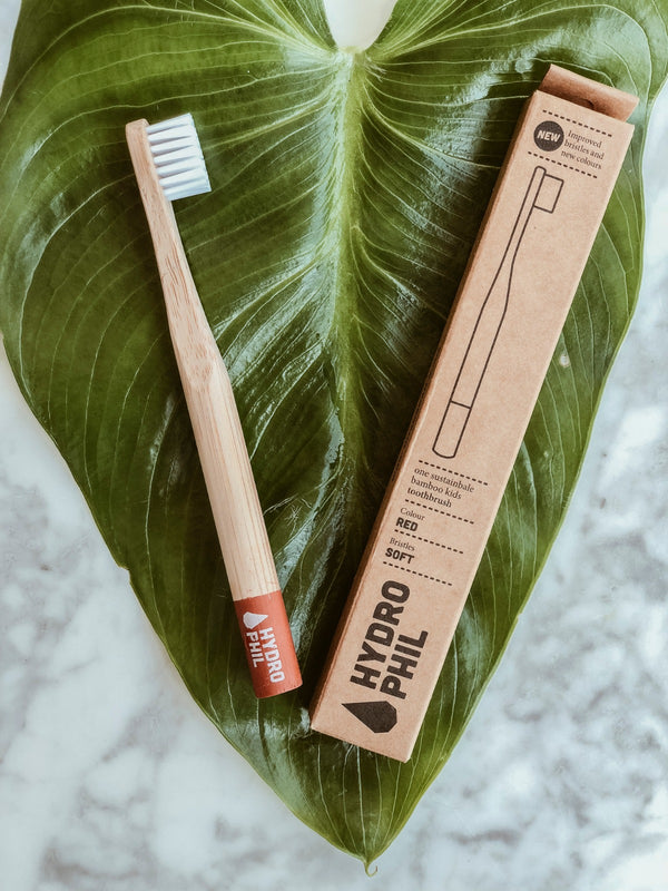 Hydrophil Bamboo Toothbrush - Kids Red, A fine choice, The Clean Market