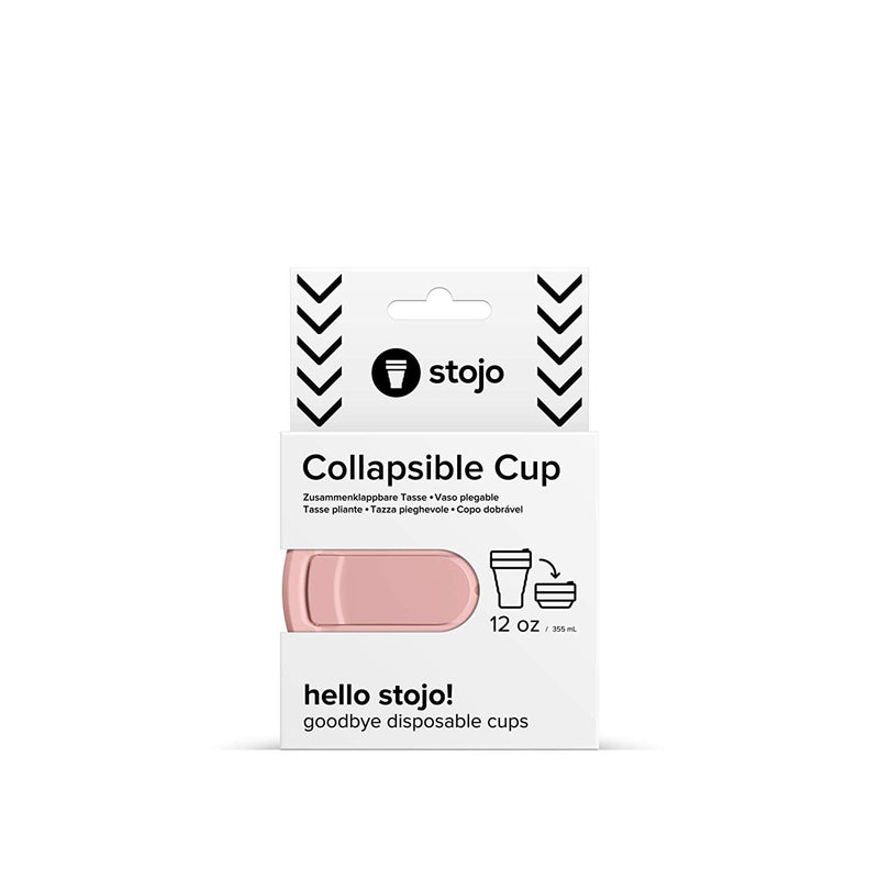 Stojo Collapsible Coffee Cup - Carnation, Auteur, The Clean Market