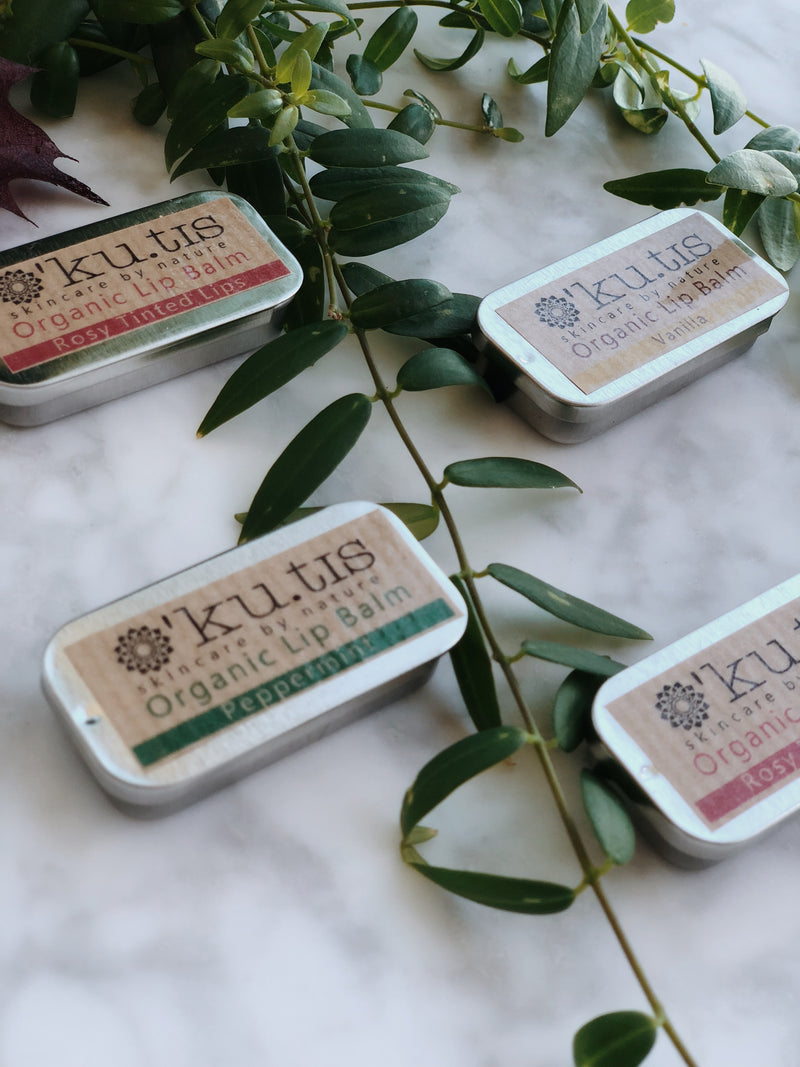 Organic Lip Balm - Peppermint, Ku.tis, The Clean Market