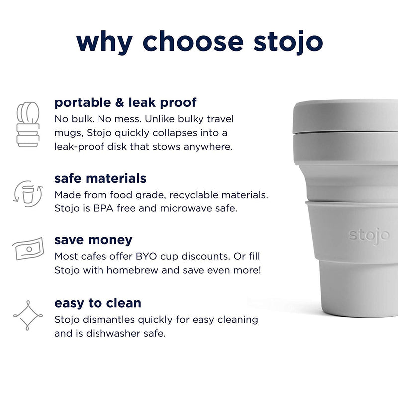 reasons to buy a reusable and collapsible coffee cup by stojo