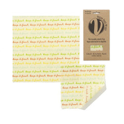 Vegan Wax Wrap - Small Kitchen Pack (1 Small & 1 Medium) - The Clean Market