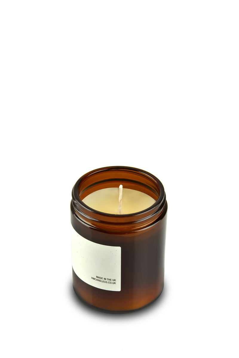Soy Wax Candle - Amber + Musk, Handmade Candle Co., The Clean Market