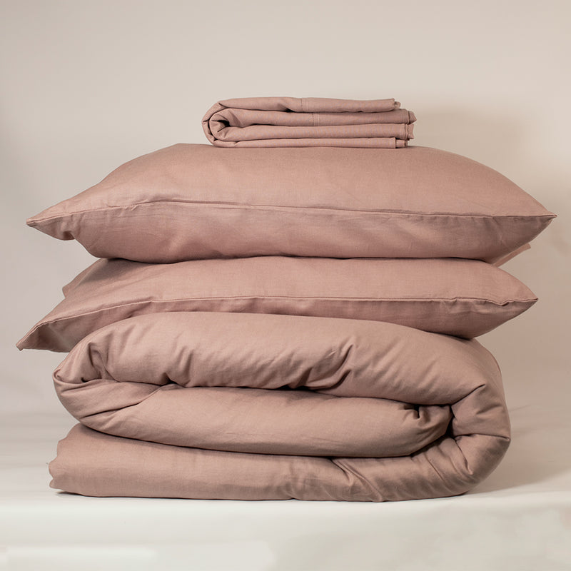 Linen Bedding Set - Champagne Pink, Bedding Set, The Flax Sack, - The Clean Market