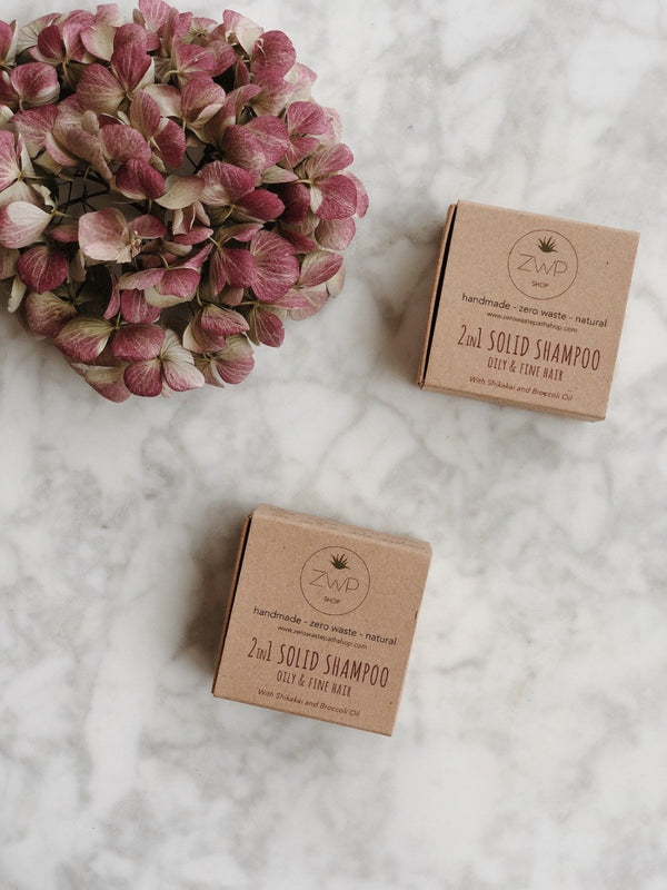 2-in-1 Solid Shampoo - Oily & Fine Hair, Zero Waste Path, The Clean Market