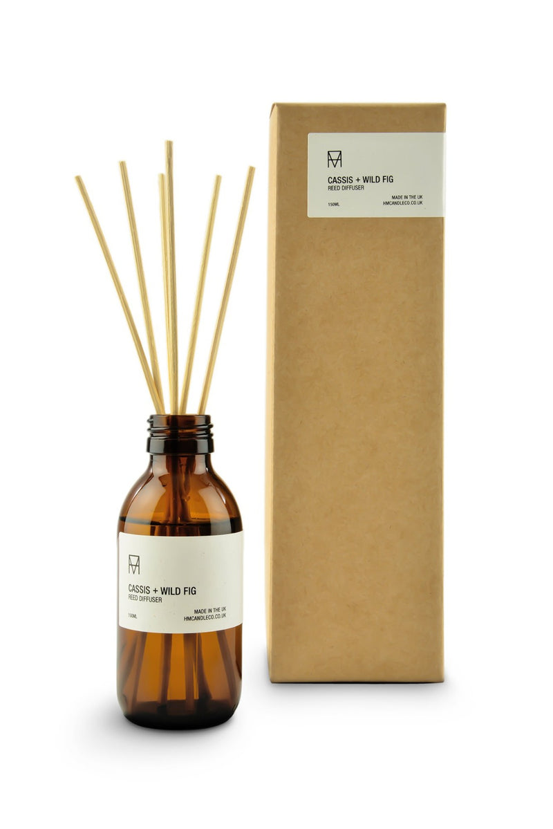Reed Diffuser - Cassis + Wild Fig, Handmade Candle Co., The Clean Market