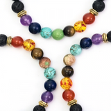 Crystal Chakra Bracelet - Lava Beads, Holistic Trader, The Clean Market