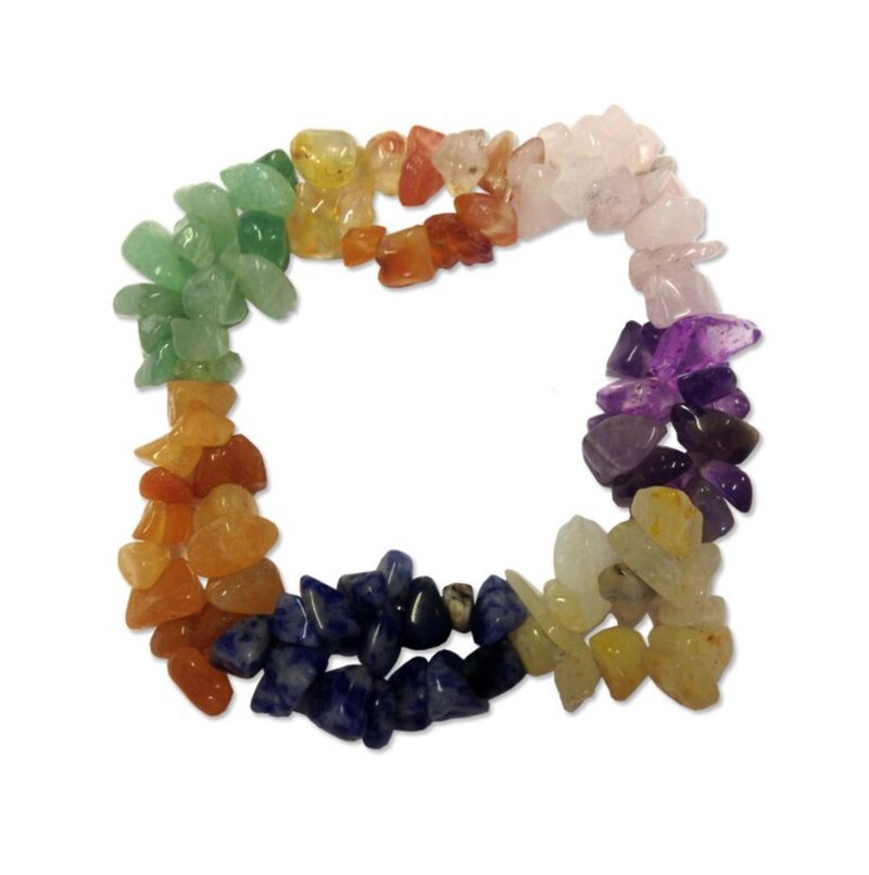 Crystal Chip Bracelet - Double Elasticated 7 Colour, Holistic Trader, The Clean Market