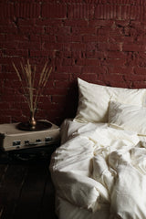 Linen Flat Sheet - Oyster White, Bedding Set, The Flax Sack, - The Clean Market